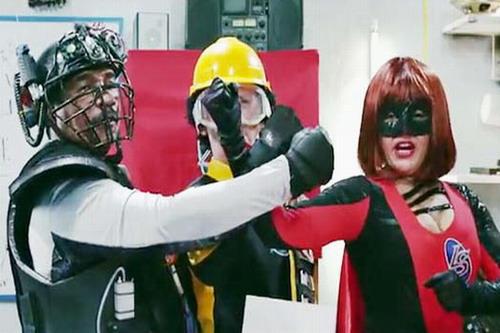 Manolo Ozuna, Alan Brtio y Cheddy García se convierten en paladines contra el crimen. Foto: Fabud Films.