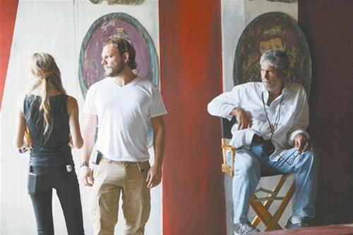 Alan Nadal y Peyi Guzman durante un momento del rodaje de la película. Foto: Cortesía Alan Nadal.