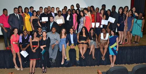 """Estudiantes que participaron en el curso """"Cine Global por la Paz y el Desarrollo"""". Foto: Fuente externa."""