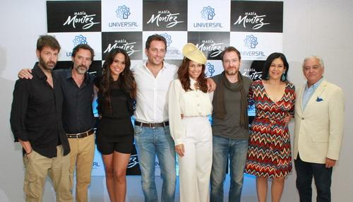 """Parte del elenco y equipo de producción de """"María Montez, la película"""". Foto: Fuente externa."""