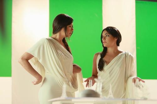 Carolina Feliz y Carmen Rodríguez en una escena del filme. Foto: Ruben Abud.
