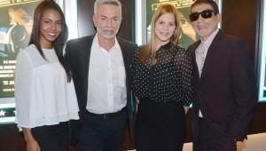 Laura Guerra, Jorge Luis Ramos, Nathaly García y Vicente Castro durante la presentación del filme. Foto: Fuente externa