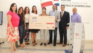 La escritora Rocío Gattinoni ganó con el guión ''Teo y el Sol'', premio dotado de  500 mil pesos. Foto: Fuente externa