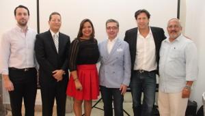 La Directora General de Cine Sra. Yvette Marichal y el Sr. Antonio Gennari, CEO de Lantica Media, y orador invitado , junto a invitados al segundo desayuno anual. Foto: Fuente externa