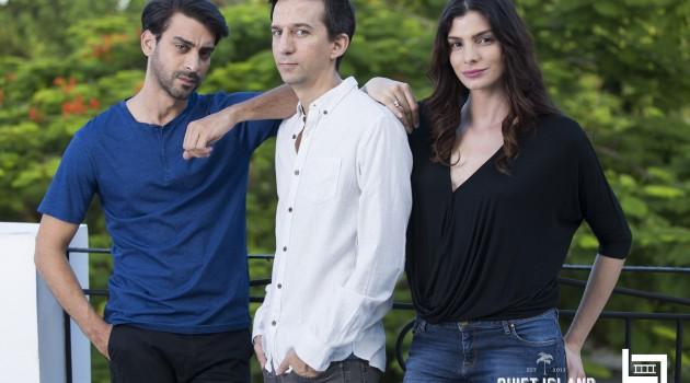 """Josue Guerrero, Matías Bize y Eva Arias, los involucrados en la película """"En tu piel"""". Foto: Larimar Films/Quiet Island."""