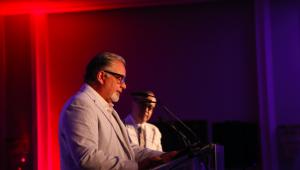 Luis Arambilet, presidente de Egeda RD, expuso la situación de la cinematografía dominicana ante los delegados del encuentro de la entidad, en Punta del Este, Uruguay, con motivo de los Premios Platino. Foto: Jsé rafael Sosa.