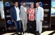 Ronni Castillo, Jalsen Sanntana, Irvin Alberti, Richard Douglas durante la noche de premier. Foto: Fuente externa