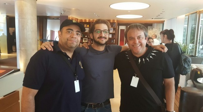 Omar de la Cruz, José María Cabral y Vicente Canales de Film Factory Entertainment. Foto: Fuente externa