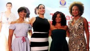 Nashla Bogaert,Lía Briones,Cheddy García e Iris Peynado, protagonistas de la comedia. Foto: Fuente externa.