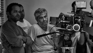 Peyi Guzman durante la filmación de Perido Ripiao. Foto: Fuente externa.