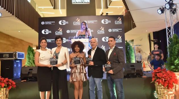 Dominic Fuentes, Cheddy García, Agliberto Meléndez y Archie López durante el acto de reconocimiento. Foto: Fuente externa