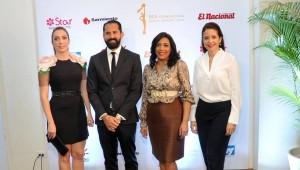 Miralba Ruiz, Pedro Ynoa,Julissa Rumaldo y Getty Valerio durante el anuncio de los nominados. Foto: Fuente externa