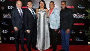 Robert Carrady, Archie López, Zumaya Cordero, Miguel Céspedes, Raymond Pozo durante la noche de premier. Foto: Fuente externa.
