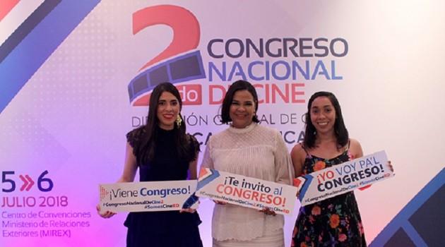 La Directora General de la DGCINE, Yvette Marichal, anunció los detalles de lo que será el 2do. Congreso Nacional de Cine, el cual se llevará a cabo los días 5 y 6 de julio del presente año. Foto: Fuente externa