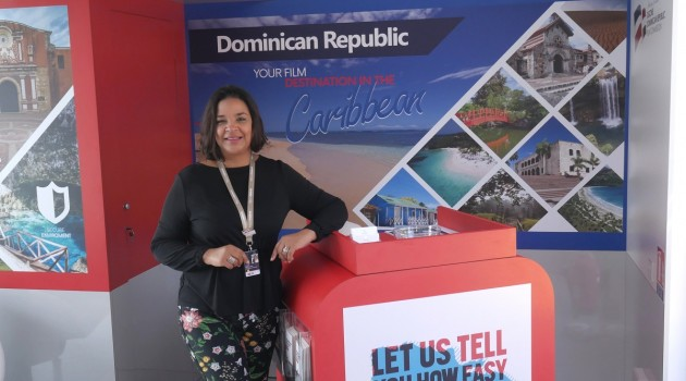 Por séptimo año consecutivo, la DGCINE representa al país desde el pabellón dominicano. Foto: Fuente externa