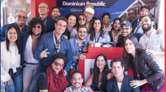 Miembros de la comisión dominicana en el Festival de Cannes. Foto: Fuente externa
