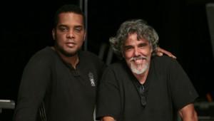 Miguel Vasquez junto al productor Ángel Muñiz. Foto: Fuente extrna