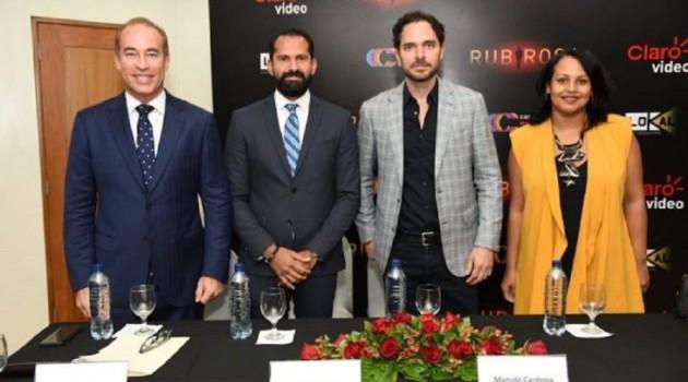 Sixto Incháustegui, Pedro Ynoa, Manolo Cardona y Zumaya Cordero durante la rueda de prensa. Foto: Fuente externa