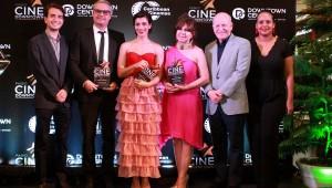 Michael Carrady, Frank Perozo, María Cordero, Robert Carrady, Zumaya Cordero en el acto de reconocimiento. Foto: Fuente externa