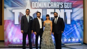 Los productores de Dominicana´s Got Talent, Gilberto Morillo, David Maler, Nashla Bogaert y Tuto Guerrero. Foto: Fuente externa