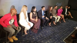 Roberto Ángel Salcedo presentó detalles de la comedia en Caribbean Cinemas VIP de Downtown Center. Foto: Fuente externa