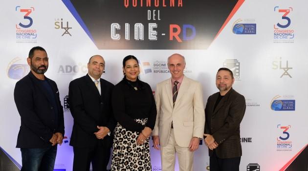 Hans García, Omar de la Cruz, Yvette Marichal, embajador de España, Alejandro Abellán y Félix Manuel Lora. Foto: Fuente externa.