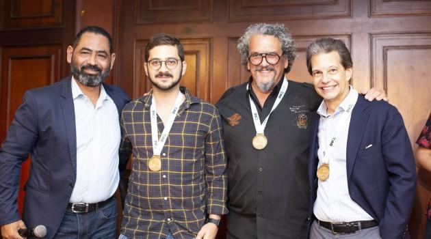 Hans García, José María Cabral, Juan Basanta y José María Cabral Arzeno, durante la rueda de prensa. Foto: Fuente externa