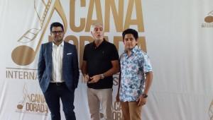 Kenneth Müller, Saul Lisazo y Fernando Cuautle durante la rueda de prensa en el Festival Internacional Cana Dorada. Foto: Fuente externa.