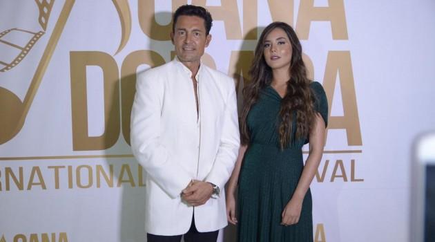 Fernando Colunga  y Raquel Flores  en la inauguración del Cana Dorada International Film Festival. Foto: Fuente externa